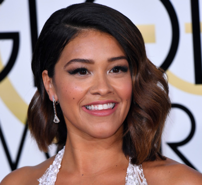 Mandatory Credit: Photo by REX/Shutterstock (7734773tz) Gina Rodriguez 74th Annual Golden Globe Awards, Arrivals, Los Angeles, USA - 08 Jan 2017
